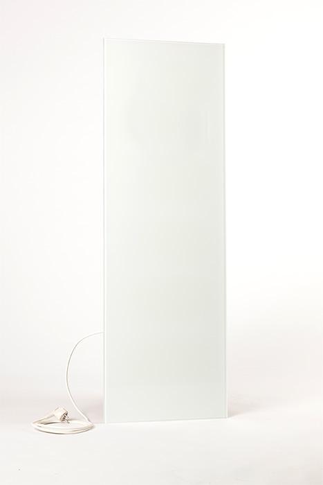 Weisse Infrarotheizung aus Glas